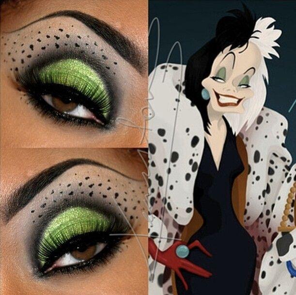 Disney villain inspired makeup: Cruella de Vil