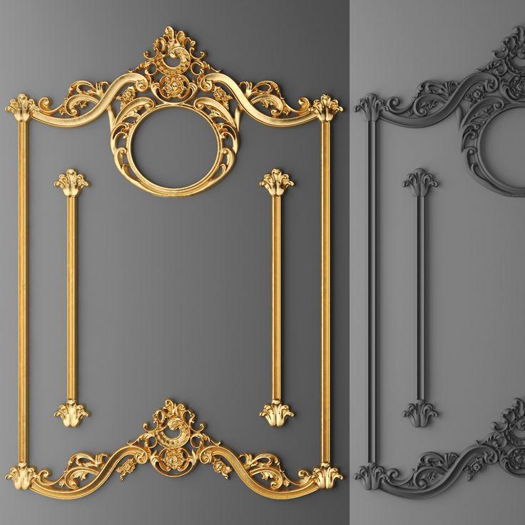 Stucco Decor Frame 3d Model Baroque Frames Decor Wall