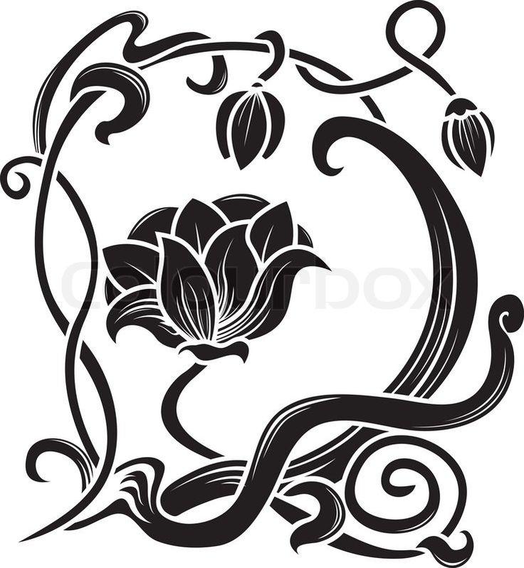 Stock-Vektor von 'Blume Schablone.'