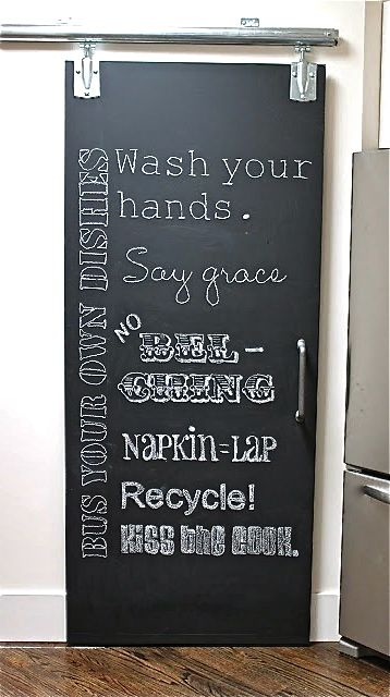 #DIY chalkboard doors : Read how to make your own here http://www.lynneknowlton.com/diy-chalkboard-doors/