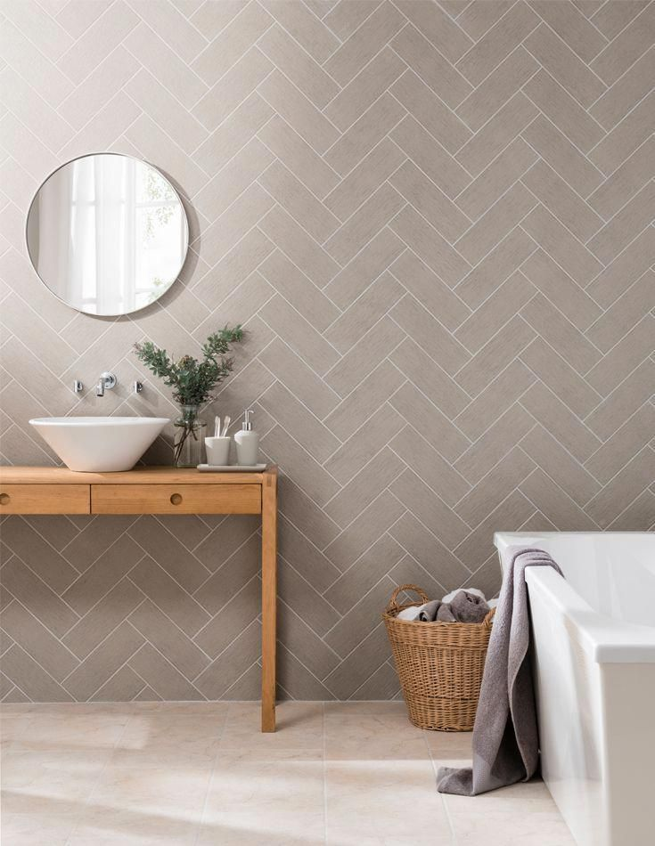 For Those Looking For An Alternative Look To The Current Linear And Bevel Formats Touchli In 2020 Trendy Bathroom Tiles Brick Tiles Bathroom Herringbone Tile Bathroom