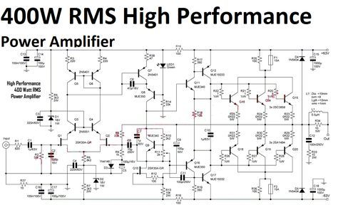 High Performance Power    Amplifier    400 Watt   saran   Hifi