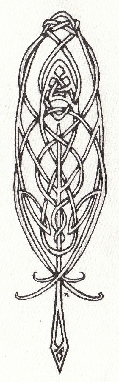 Celtic Feather by ~LaughingAstarael