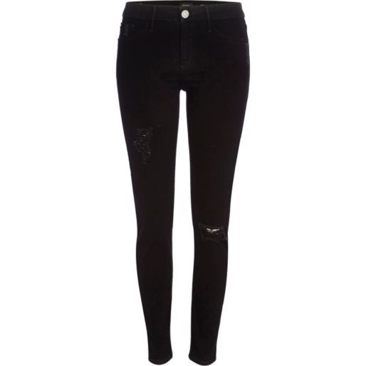Black ripped Molly jeggings - jeggings - jeans - women