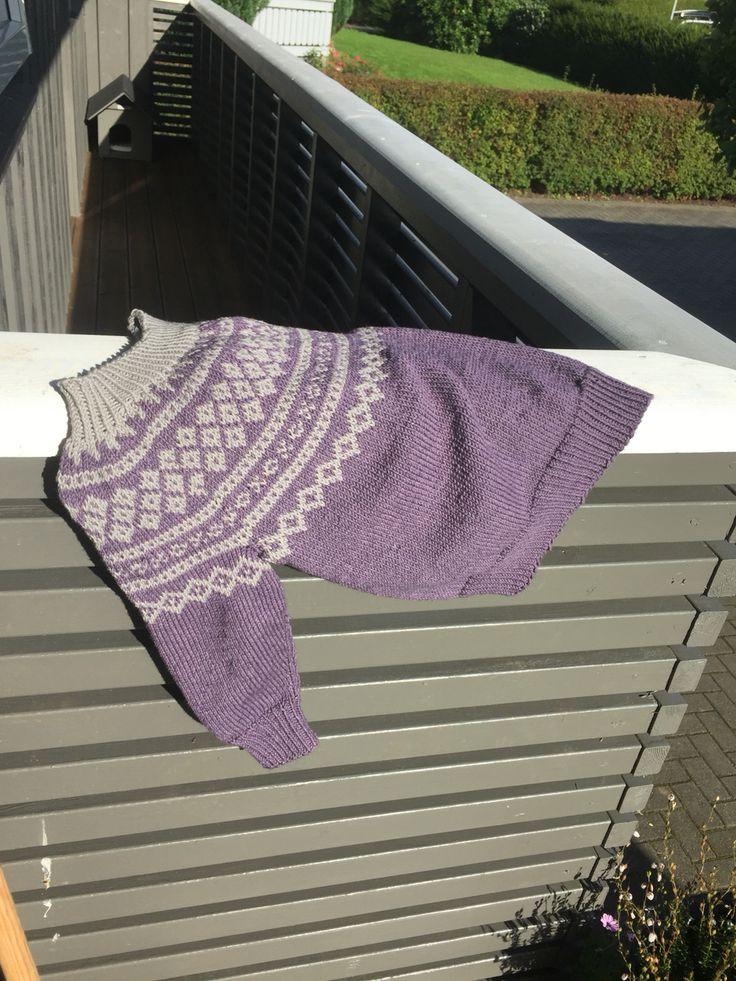 Linnea genser #sandnesduo#knitting#barn#strikke#