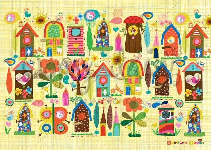 Backyard Birdhouses - Placemat