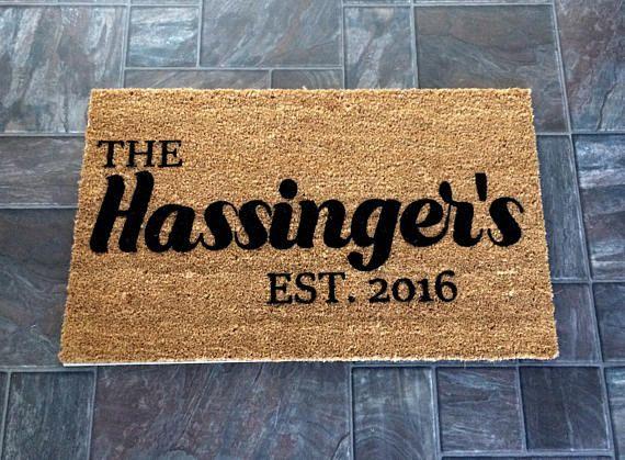Personalized Doormat Monogrammed doormat Custom doormat