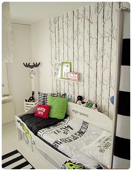 Gutterom, tapet Boys room, wall paper