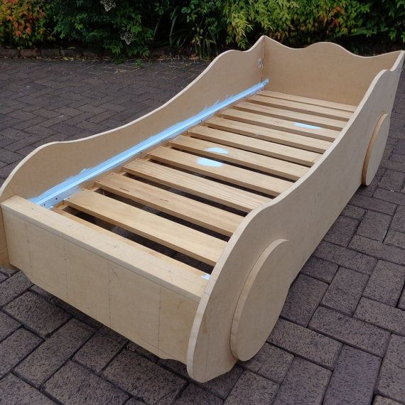 DIY Kids' Racing Car Bed woodworking plans by BuildEazy on Etsy