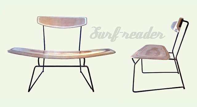 Surf reader chair by Diego Polognioli, 2012. Via Flickr