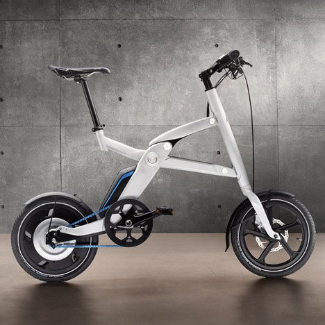 BMW i Pedelec Concept. Electric bike that folds up easily to put into your car. i need this!