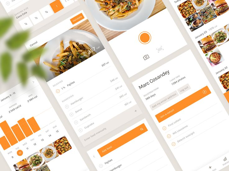 Food Tracking App by Pierre Georges - Dribbble