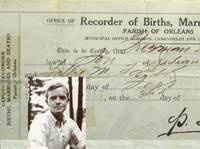 Truman Capote's original Birth Certificate.   New Orleans: Parish of New Orleans, 1924 First Edition. Truman Capote's original Birth Certificate - issued in the parish of New Orleans & registered the 3rd day of October, 1924 & showing the birth of Truman Streckfus Persons, September 30th, 1924.  Listed by TBCL: The Book Collector's Library #collectible #lit