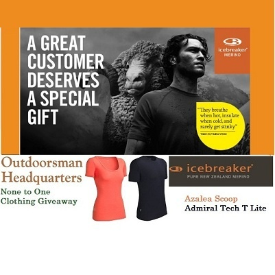 Win a new Icebreaker with Rotorua's Outdoorsman Headquarters discounts and special offers for best prices of outdoor clothing and equipment.