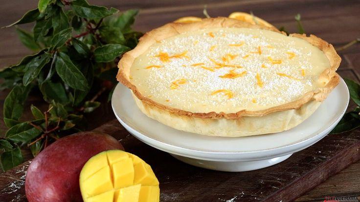 Receita de Tarte de mousse de manga. Descubra como cozinhar Tarte de mousse de manga de maneira prática e deliciosa!