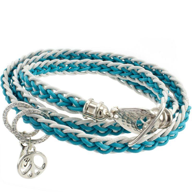 Kumihimo Flat Leather Bracelet Bead Weaving Kit Flats