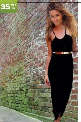 Strapped Black Maxi ‪#‎Dress‬ without Belt Only US$ 5.89. Get This Now Online Here! http://www.feelingirldress.com/Strapped-Black-Maxi-Dress-without-Belt-p3661.html ‪#‎MaxiDress‬ ‪#‎SexyDresses‬ ‪#‎FashionDress‬