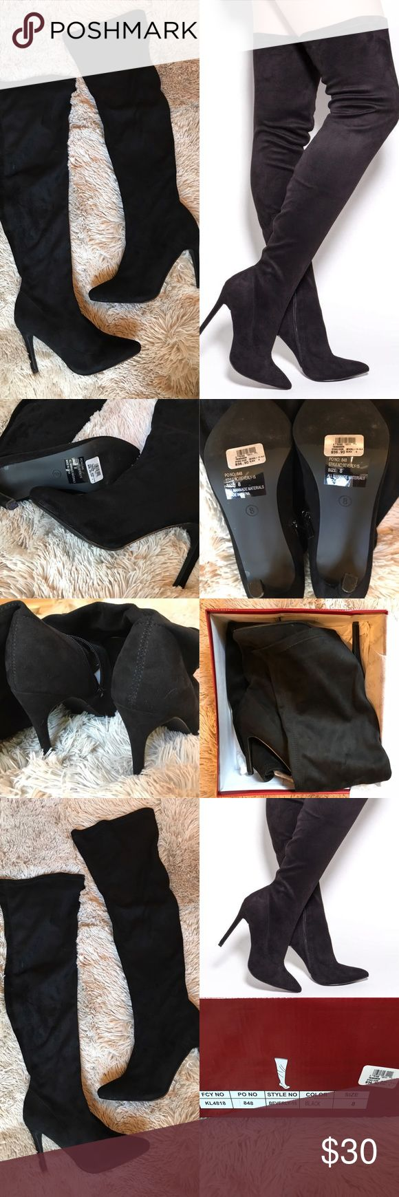 Windsor Black Over The Knee Suede Boots size 8 Black suede Over The Knee boots with zip on inner side.  Size 8. Comes with original box and packaging.  Brand new, unworn & in perfect condition. What you see is what you see :) Windsor Shoes Over the Knee Boots