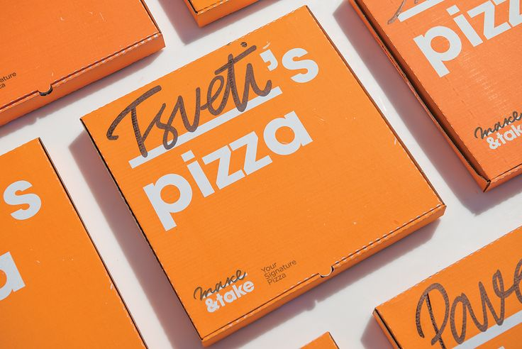 "Make&Take is a pizza shop that allows its customers to select the ingredients for their pizzas. Your ""signature pizza"" is baked in less than 5 minutes and comes in a bright box with your name on it. It's that easy to get a pizza named after you."