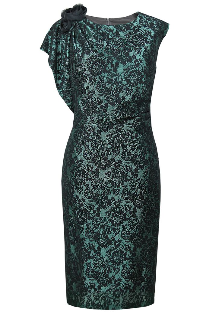 Suknia Inka koronka czarno-morska Semper Shop