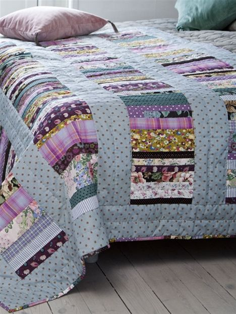 Smukt sengetæppe som vil klæde et hvert soveværelse.