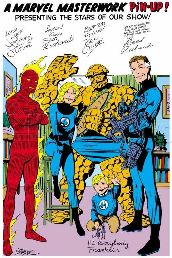 Happy 55 Years, Fantastic Four! A Marvel Masterwork Pin-Up - John Byrne
