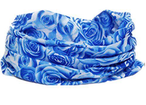 Femme Homme Bandanas sans coutures de Bleu Rose Fleur Multifonctionnel Sunscreen Incroyable Style Pour Moto motifs cyclisme et sports…