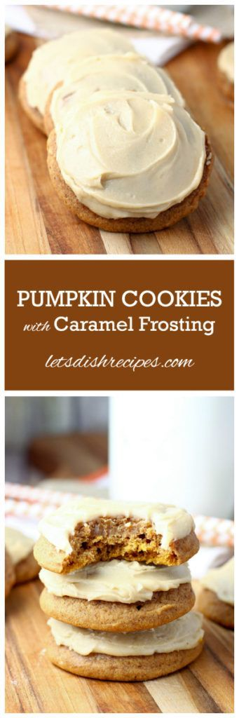 Pumpkin Cookies with Caramel Frosting Recipe