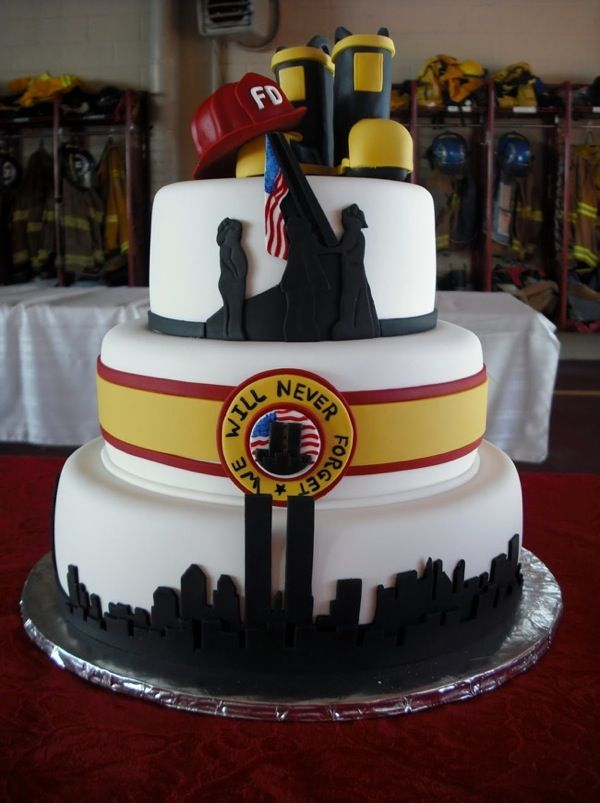 9/11 Memorial Cake by Ashley's Cake by Design
