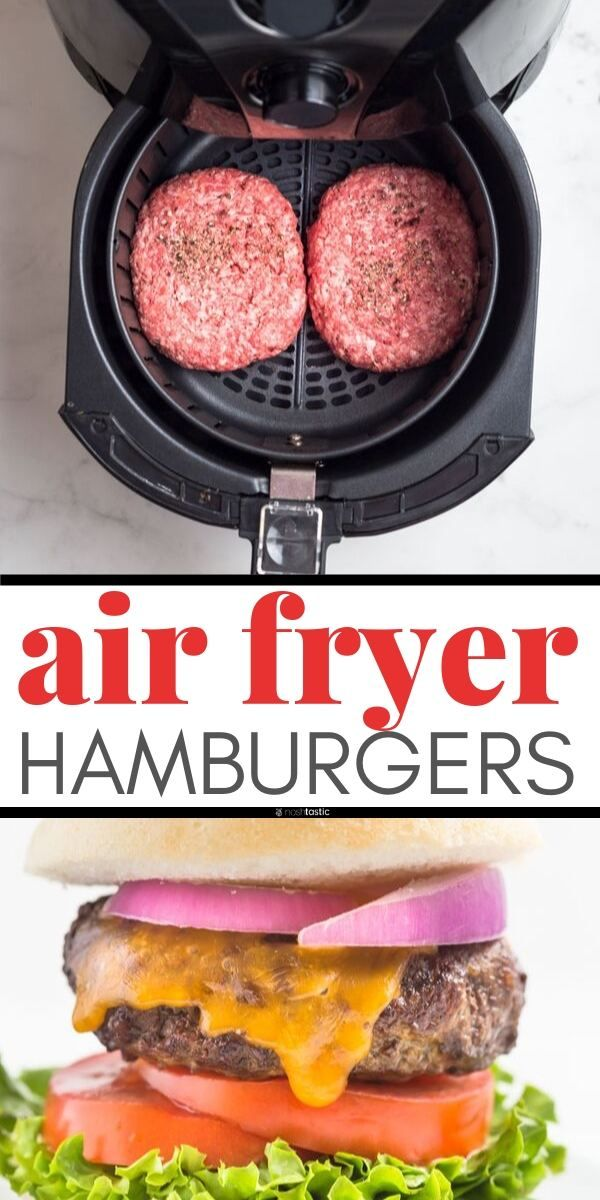 Easy Air Fryer Burgers recipe, this is the best way to