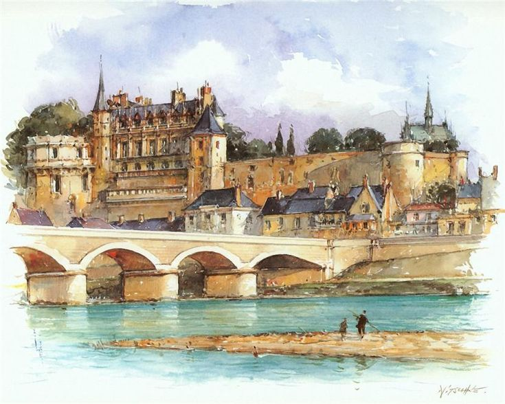 Castle Of Amboise On Loire River-France.