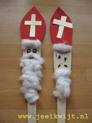Sinterklaas van een pollepel! wat zal dat leuk poppenkastspel opleveren!