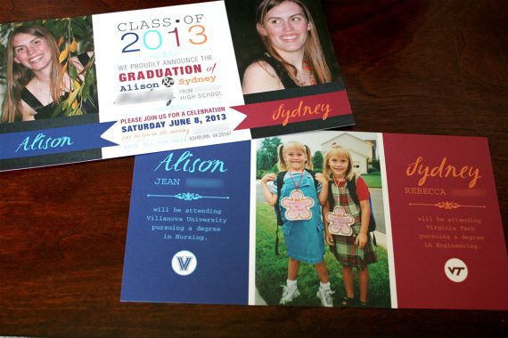 Graduation Announcement and Party Invite for by YondeeCelebrations, $50.00