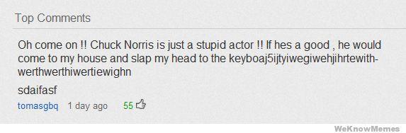 Chuck Norris: Hilarious!