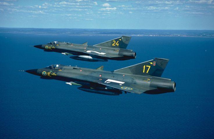 Swedish Air Force Fighter J 35F Draken