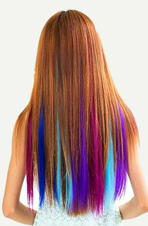 12 Color Clip In Hair Extension Color Multicolor Composition 100 Chemical Fiber Type Synthetic Wigs In 2020 Clip In Hair Extensions Hair Styles Hair Extensions