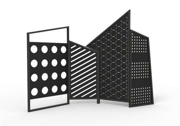 Dynamically Modern Dividers - The Folding Screens by Lorenz+Kaz are Geometric and Vibrant (GALLERY)