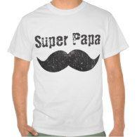 Super Dad Vintage Moustache Father's Day Tshirt