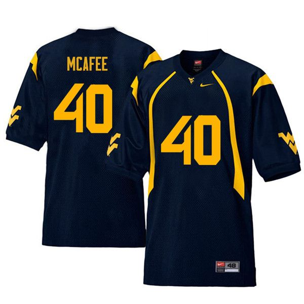 free shipping 0cb28 df035 Men #40 Pat McAfee West Virginia Mountaineers Retro College ...