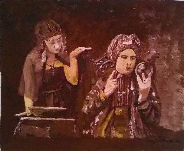 Questa sera vi propongo una pittura su cartoncino a tema magico! Buona serata! #ivensincisionevetro #illusionismo #magia #riciclocreativo