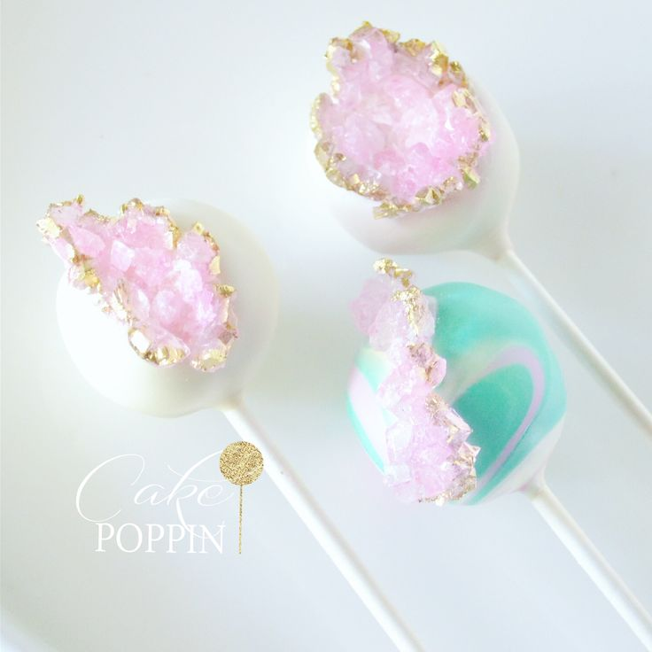 Geode cake pops and marble cake pops