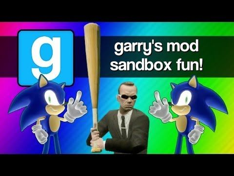 Gmod Sandbox Funny Moments - Sonic 1v1, Mcdonalds, Baseball Bat Fun, Batman, Murder House!