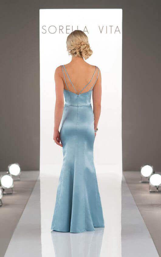 8918 Classic Satin Bridesmaid Dress by Sorella Vita