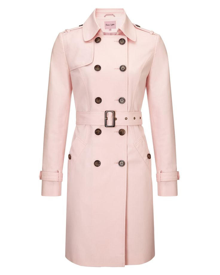 All Sale   Pink Tabatha Trench Coat   Phase Eight