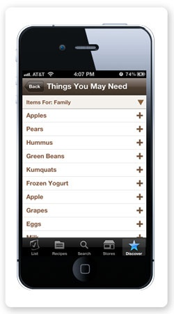 Things You May Need - ZipList Mobile App