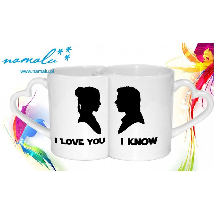 Buy here: http://namalu.pl/inspir-gwiezdnymi-wojnami/478-kubek-podwojny-i-love-you-i-know-.html   double mug mugs for couple lovers Han Solo Leia Organa Princess I love you I know zakochanie walentynki valentine's day 14 lutego kubki dla pary star wars gwiezdne wojny