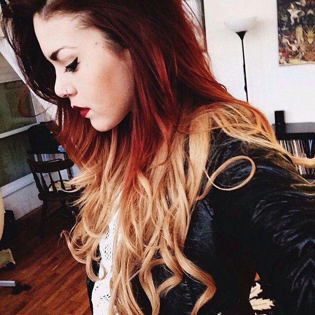 Red blonde ombre and red ombre on pinterest