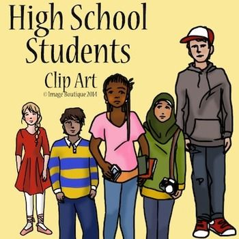 High School Teenager Students Clip Art | Clip art ...