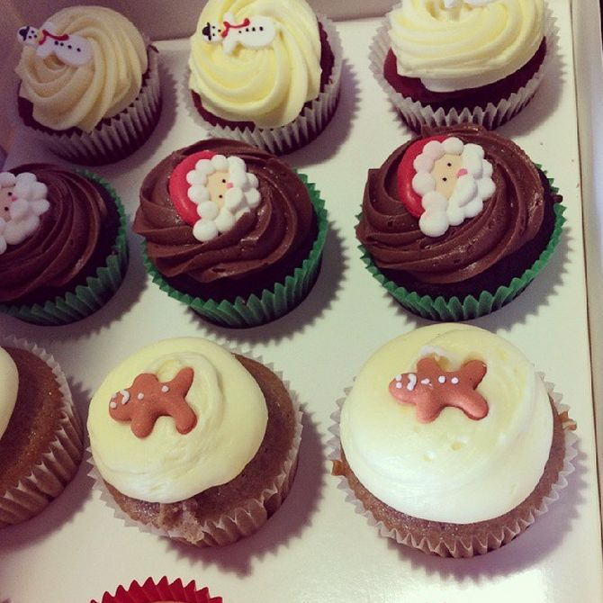 Christmas cupcakes from our friends at tlc for kids!