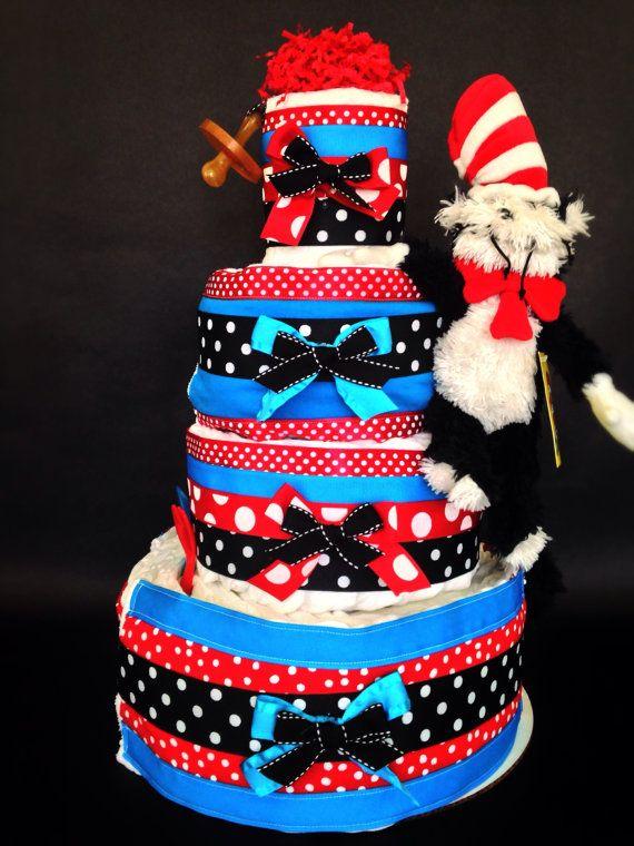 Cat In Hat Diaper Cake